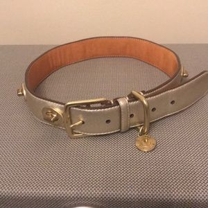 Coach gold leather w/gold metal belt